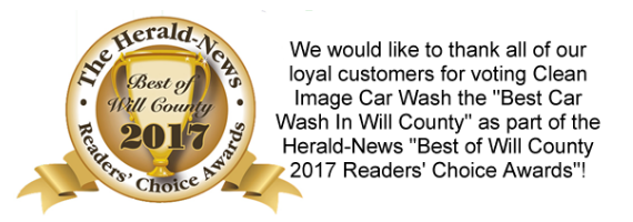 We would like to thank all of our loyal customers for voting Clean Image Car Wash the Best Car Wash In Will County as part of the Herald-News Best of Will County 2017 Readers' Choice Awards!